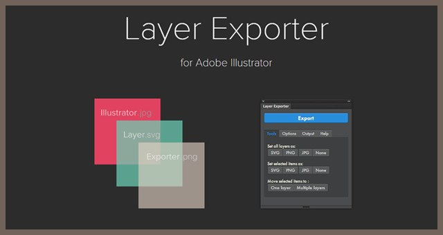 Illustrator Layer Exporter 画像切り出しエフェクト