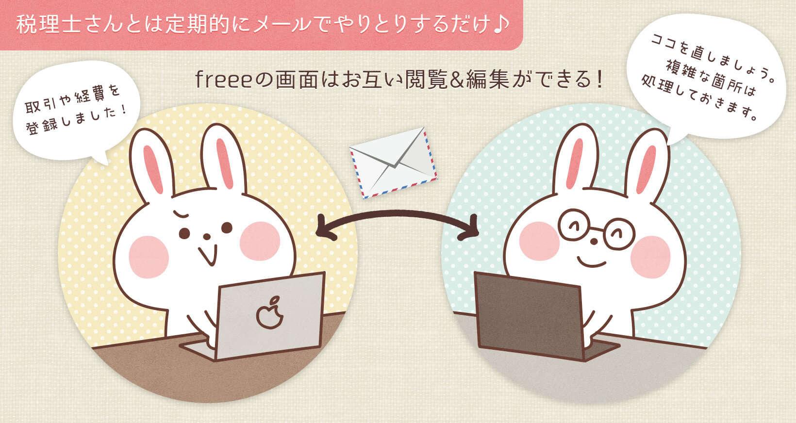freee 確定申告 オンライン会計ソフト 公認税理士 やりとり